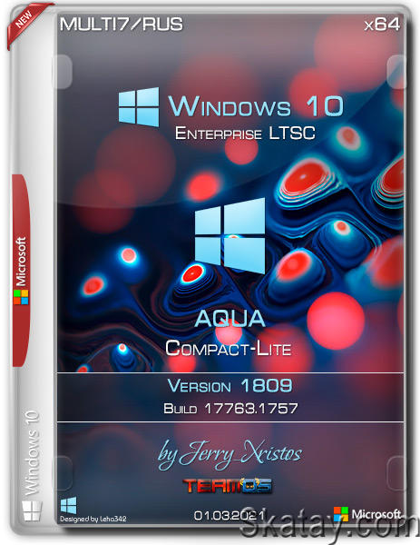Windows 10 Enterprise LTSC x64 Aqua Compact-Lite by Jerry_Xristos (MULTi7/RUS/2021)